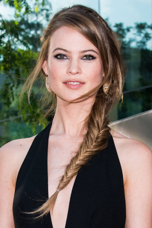 Behati Prinsloo wearing a fishtail plait