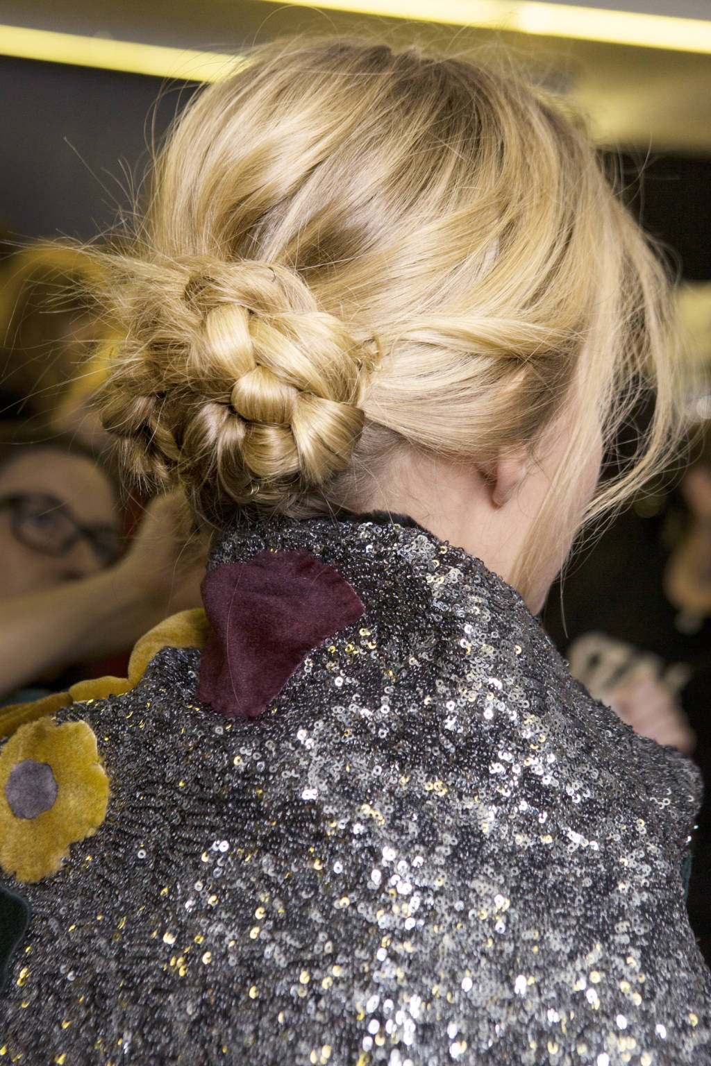 Plaited bun created for Dolce & Gabbana Autumn 2015