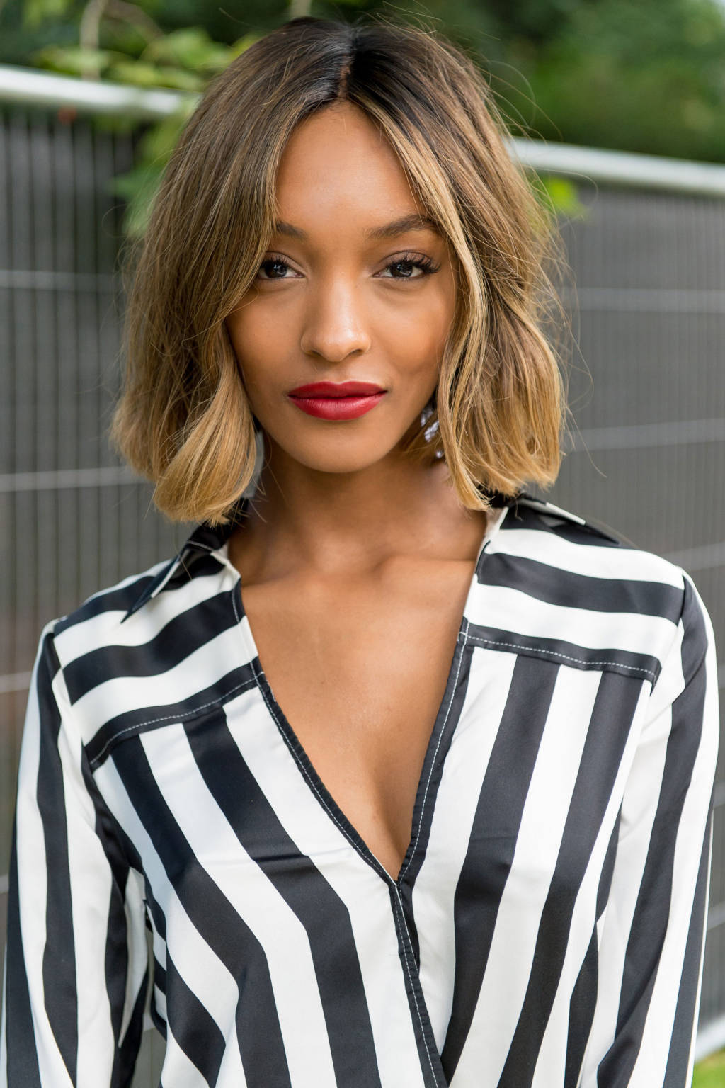Blunt bob on Jourdan Dunn