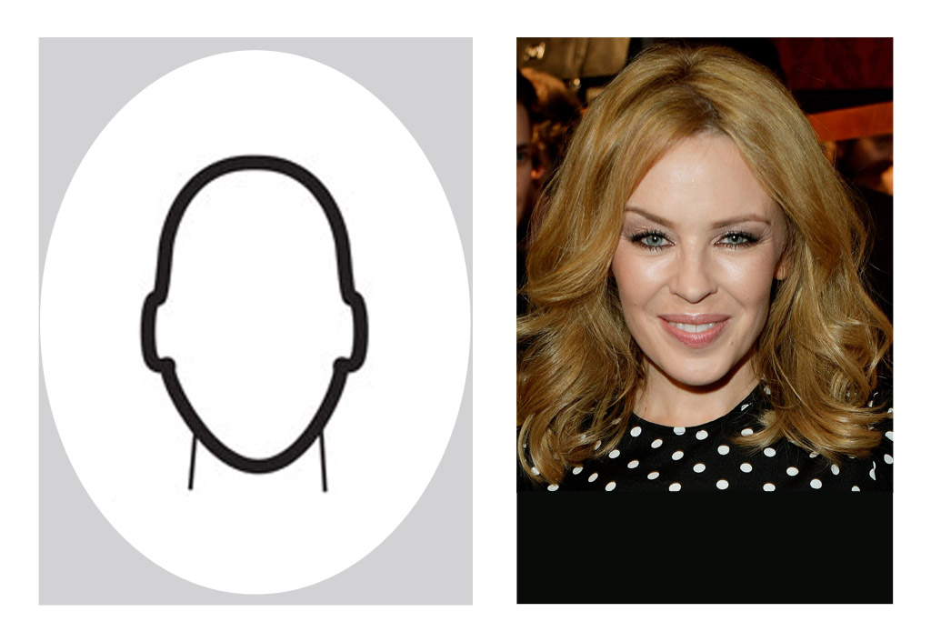 Oval shaped face - Kylie Minogue