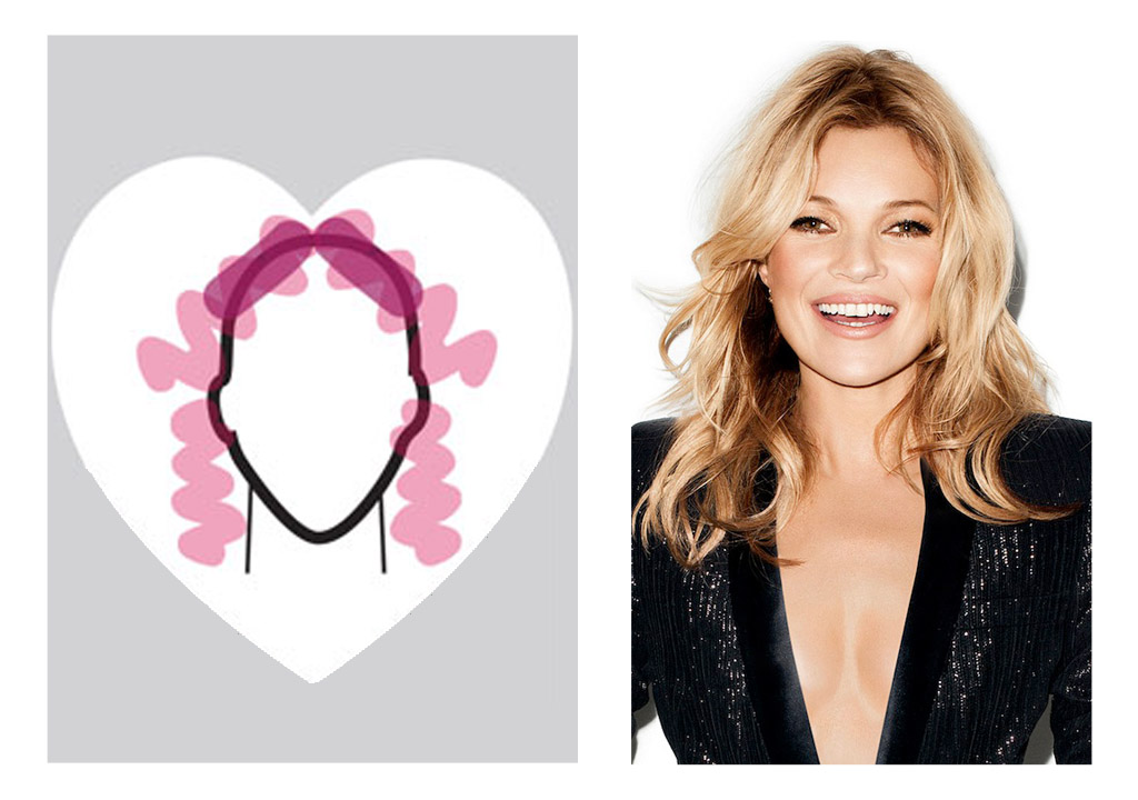 Heart shaped face - Kate Moss