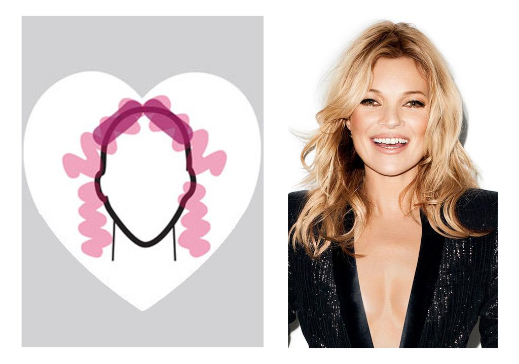 Heart shaped face - Kate Moss