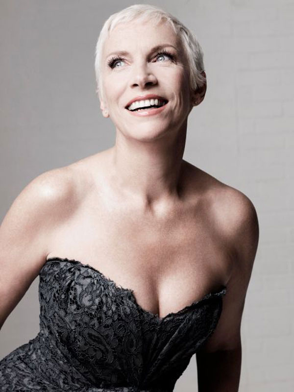 annie lennox grey hair
