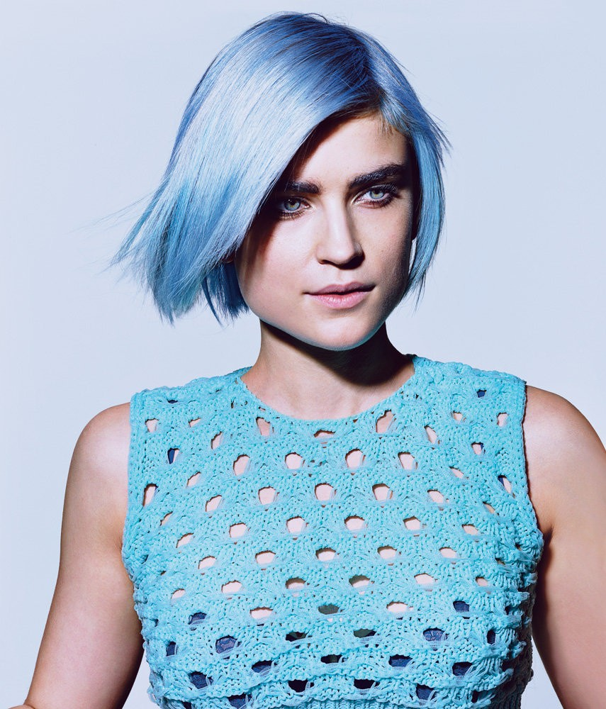 On-trend hair colours for 2016 - Pale blue hair colour