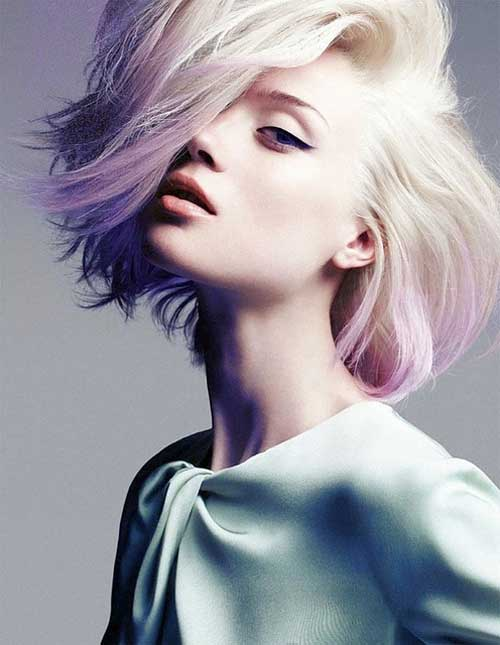 On tend hair colours - Pastel violet hair colour