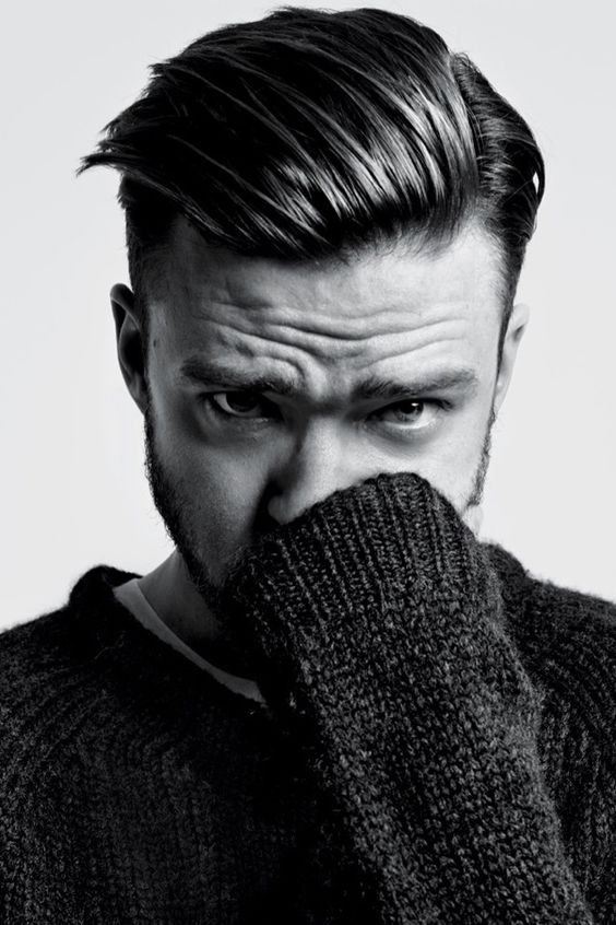 Justin timberlake haircut slicked