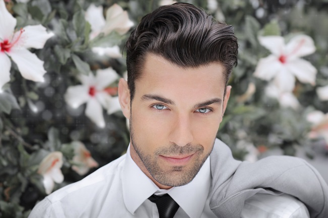 mens long hairstyles slicked-back