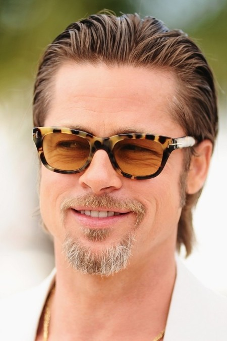 wet look hairstyle for men - Brad Pitt