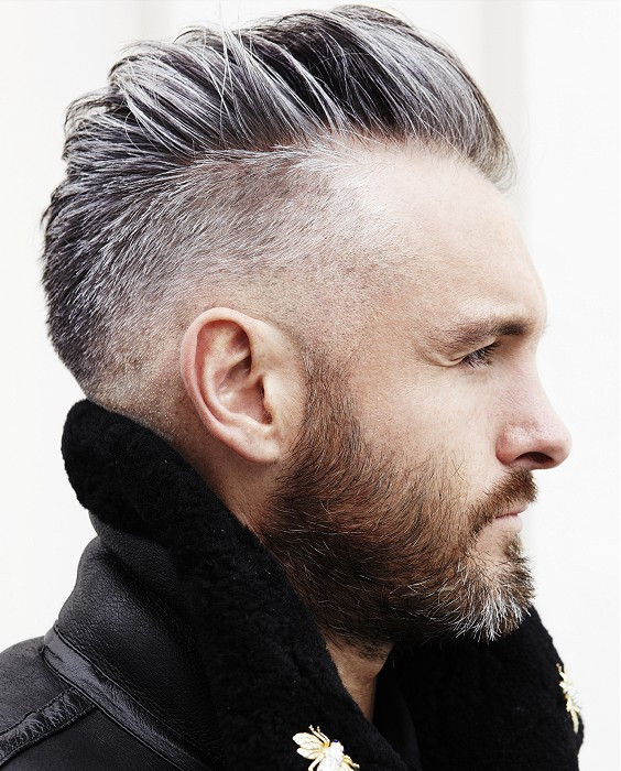 grey male haircut