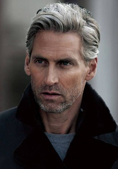grey male hairstyle