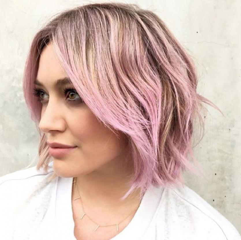 hilary duff pastel hair colour