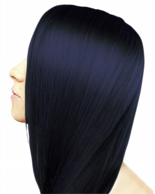midnight blue hair colour