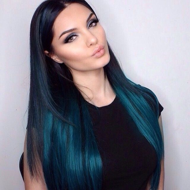 teal hair colour
