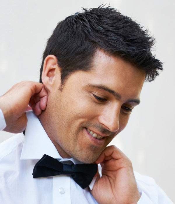 Wedding hair styles for men