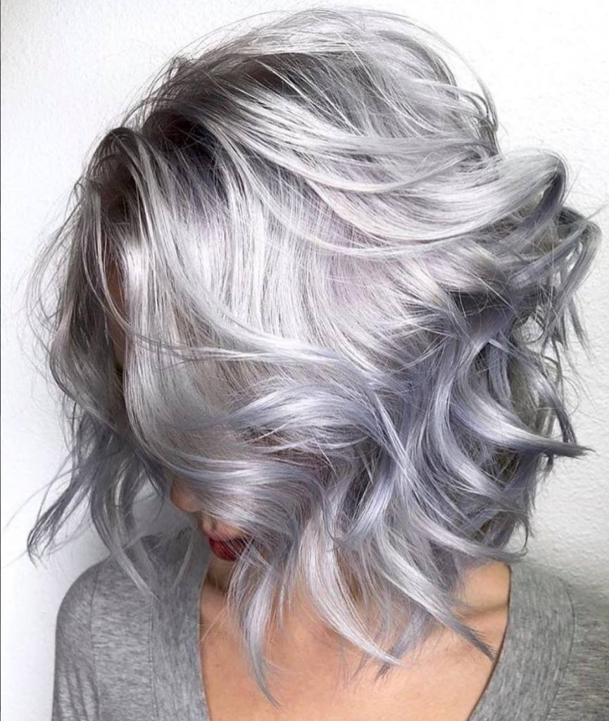 silver lob with a hint of lavender
